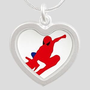 Spiderman pose art Necklaces