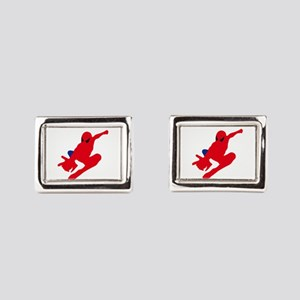 Spiderman pose art Rectangular Cufflinks
