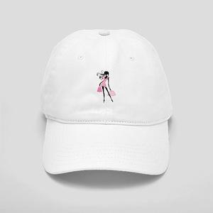 Fashion girl with handbag Cap