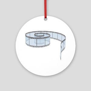 Film Strip Round Ornament