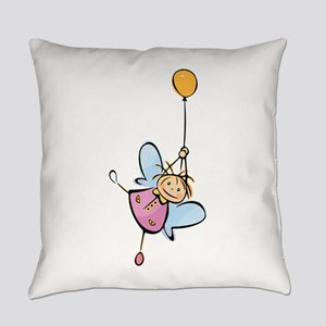 Little angel kid cartoon Everyday Pillow