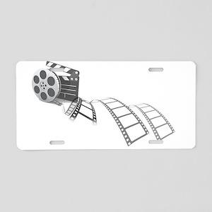 Film Reel Aluminum License Plate