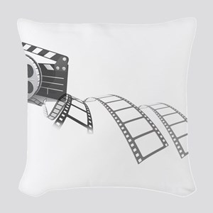 Film Reel Woven Throw Pillow