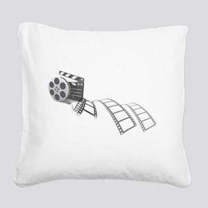 Film Reel Square Canvas Pillow