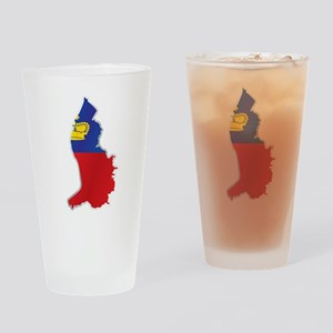 National territory and flag Liechte Drinking Glass