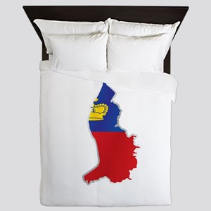 National territory and flag Liechtenst Queen Duvet