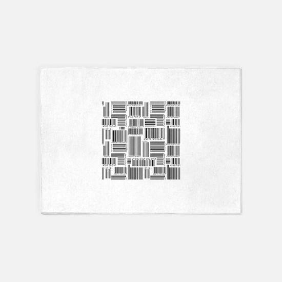 Barcode background art 5'x7'Area Rug