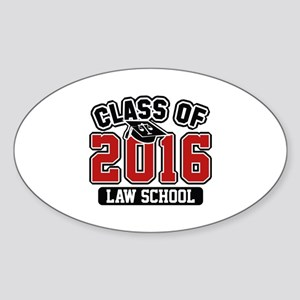 Class Of 2016 Law Sticker (Oval)