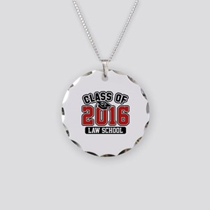 Class Of 2016 Law Necklace Circle Charm