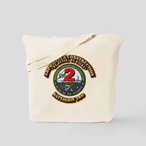 Amphibious Construction Battalion Two Wit Tote Bag