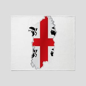 National territory and flag Sardinia Throw Blanket