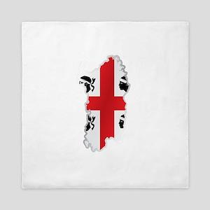 National territory and flag Sardinia Queen Duvet