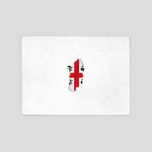 National territory and flag Sardini 5'x7'Area Rug