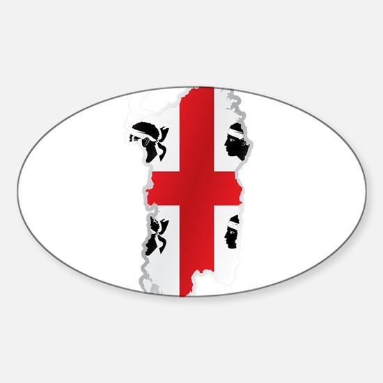 National territory and flag Sardinia Decal