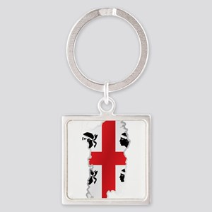 National territory and flag Sardinia Keychains