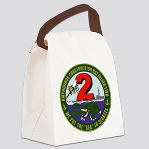 Amphibious Construction Battalion Canvas Lunch Bag