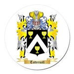 Tattersall Round Car Magnet
