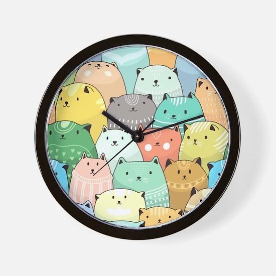 Cute Cats Wall Clock