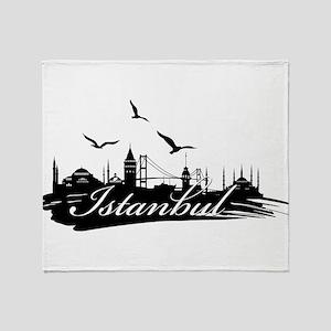 Istanbul design elements Throw Blanket