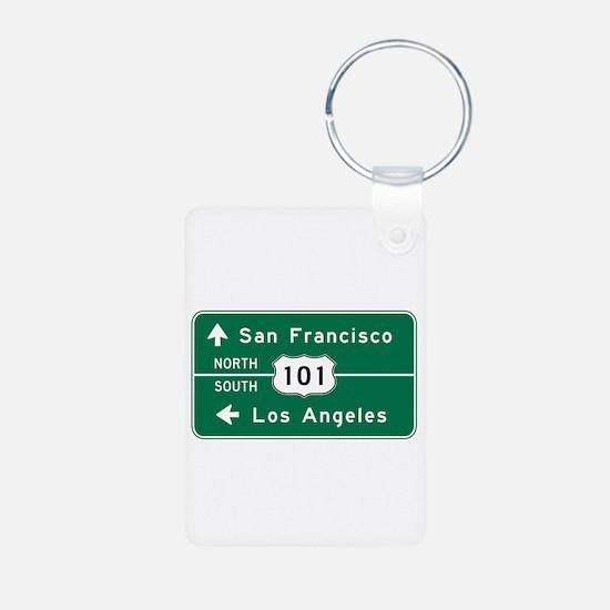 San Francisco-LA-US Route Keychains