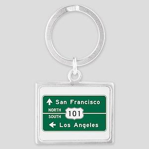 San Francisco-LA-US Route 101 Landscape Keychain