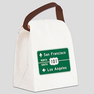 San Francisco-LA-US Route 101 Canvas Lunch Bag