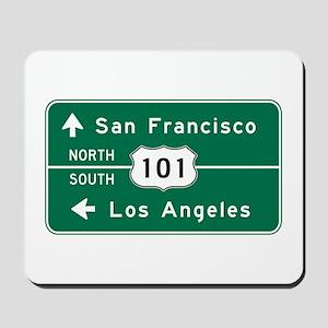 San Francisco-LA-US Route 101 Mousepad