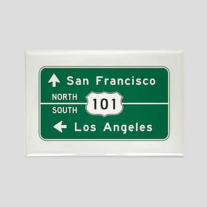 San Francisco-LA-US Route 101 Rectangle Magnet