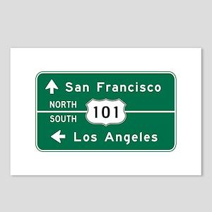 San Francisco-LA-US Route Postcards (Package of 8)