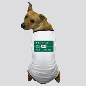 San Francisco-LA-US Route 101 Dog T-Shirt