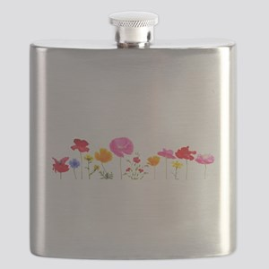 wild meadow flowers Flask