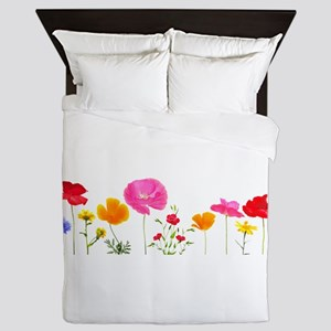 wild meadow flowers Queen Duvet