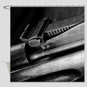 Military Rifle Shower Curtain