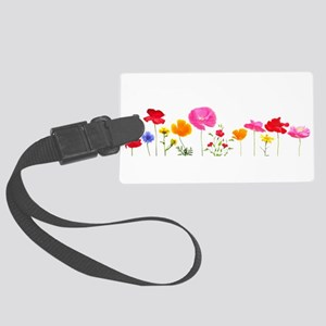 wild meadow flowers Large Luggage Tag