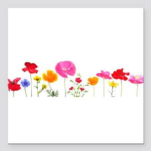 """wild meadow flowers Square Car Magnet 3"""" x 3"""""""