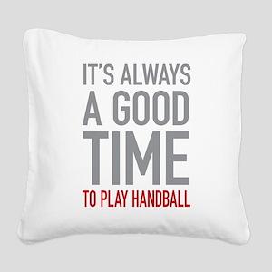Play Handball Square Canvas Pillow