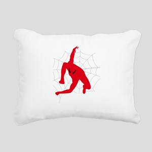 Spiderman sitting on spi Rectangular Canvas Pillow