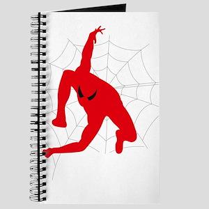 Spiderman sitting on spiderweb Journal