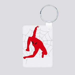 Spiderman sitting on spiderweb Keychains