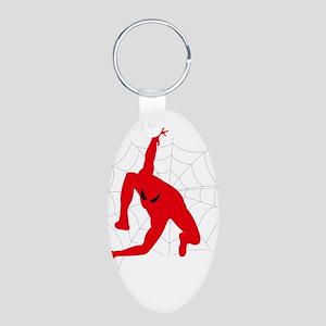 Spiderman sitting on spiderweb Keychains