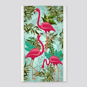 Pink Flamingos Fabric Pattern Area Rug