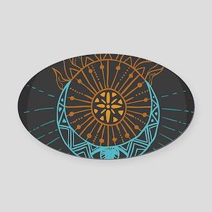 Sun and Moon Oval Car Magnet