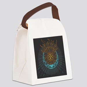 Sun and Moon Canvas Lunch Bag