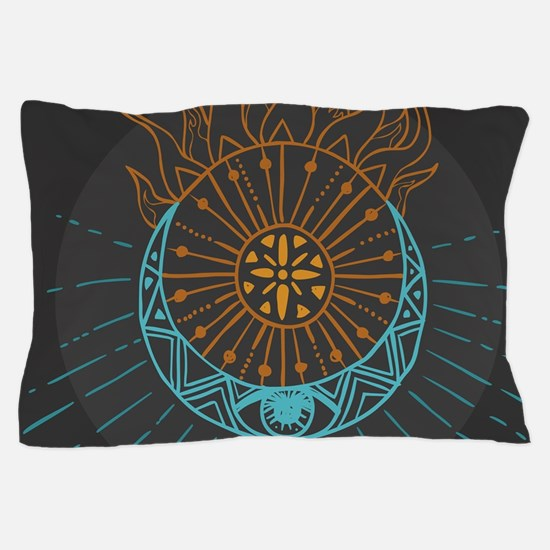 Sun and Moon Pillow Case