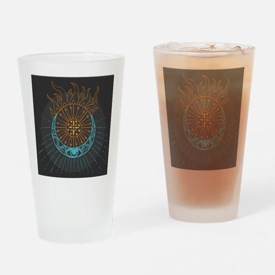 Sun and Moon Drinking Glass