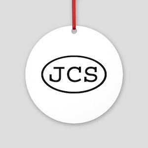 JCS Oval Ornament (Round)