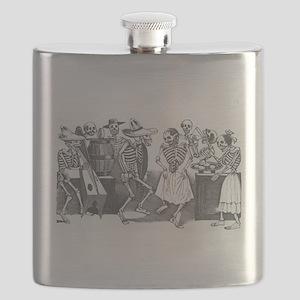 Posada - Dancing Calaveras Flask
