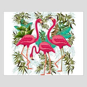 Pink Flamingos Fabric Pattern Poster Design