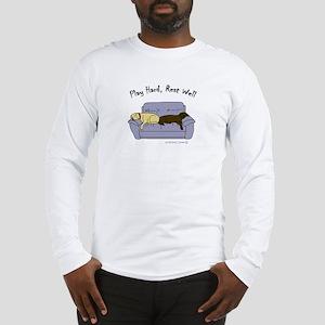 PlayHardRestWellYellowChoco Long Sleeve T-Shirt