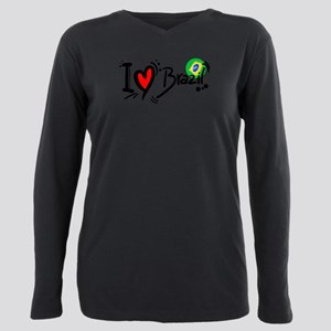 I love brazil world cup Plus Size Long Sleeve Tee